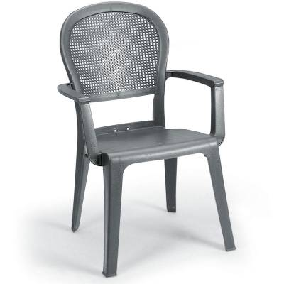 Grosfillex Patio Furniture - Resin Chairs - Seville Stacking Armchair