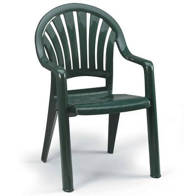 Pacific Fanback Stacking Armchair - Image 1