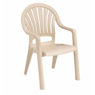 Pacific Fanback Stacking Armchair - Image 3