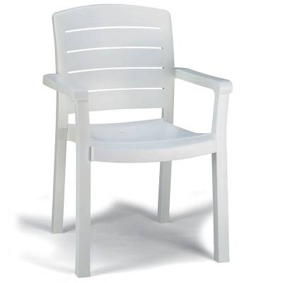 Grosfillex Patio Furniture - Resin Chairs - Acadia Classic Stacking Armchair