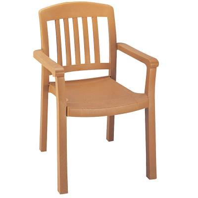 Grosfillex Patio Furniture - Resin Chairs - Atlantic Classic Stacking Armchair