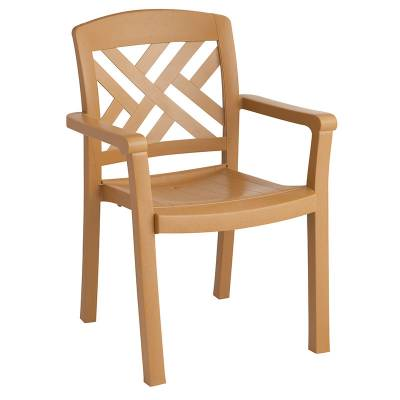 Grosfillex Patio Furniture - Resin Chairs - Sanibel Classic Stacking Armchair