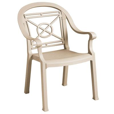 Grosfillex Patio Furniture - Resin Chairs - Victoria Classic Stacking Armchair