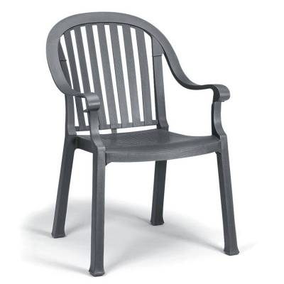 Grosfillex Patio Furniture - Resin Chairs - Colombo Classic Stacking Armchair