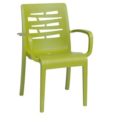 Grosfillex Patio Furniture   Resin Chairs   Essenza Stacking Arm Chair