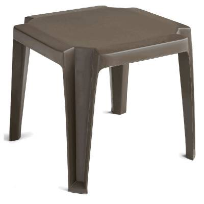 Grosfillex Patio Furniture - Occasional Tables & Umbrellas - Miami Stack Table - Sold in Packs of 6