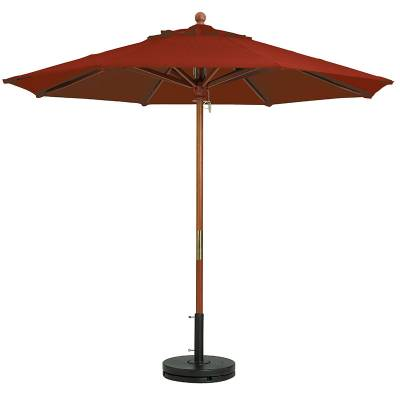Grosfillex Patio Furniture - Occasional Tables & Umbrellas - 7' Wood Market Octagon Umbrella