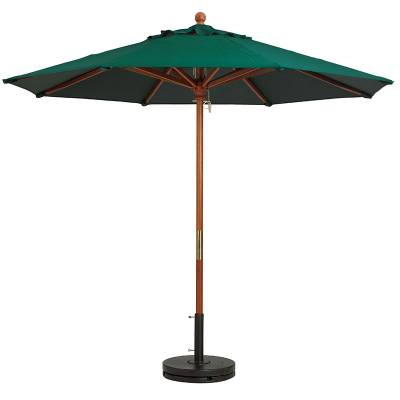 Grosfillex Patio Furniture - Occasional Tables & Umbrellas - 9' Wood Market Octagon Umbrella