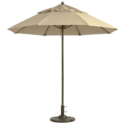 Grosfillex Patio Furniture - Occasional Tables & Umbrellas - 9' Windmaster Fiberglass Market Umbrella
