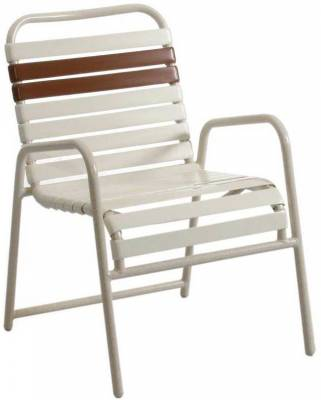 Poolside Furniture   Vinyl Strap Furniture   Welded Contract Lido Stacking  Strap Chair