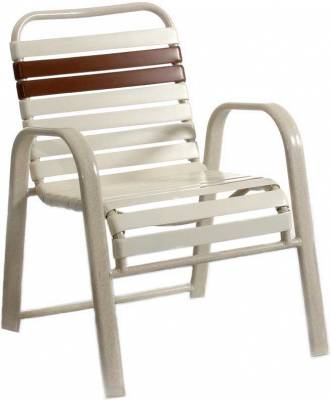 Poolside Furniture - Vinyl Strap Furniture - Welded Contract Bonaire Stacking Strap Chair