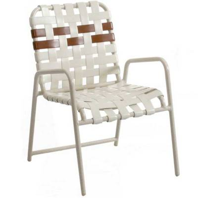 Poolside Furniture - Vinyl Strap Furniture - Welded Contract Lido Stacking Cross Strap Chair
