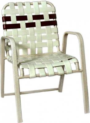 Poolside Furniture - Vinyl Strap Furniture - Welded Contract Siesta Stacking Cross Strap Chair