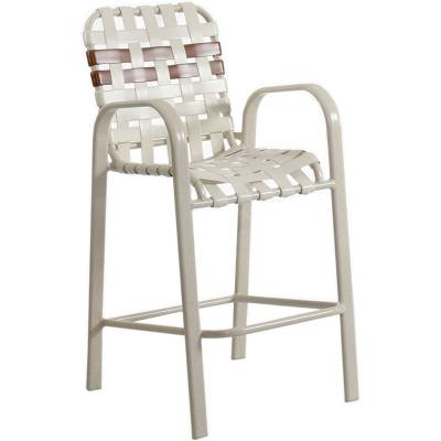 Poolside Furniture - Welded Contract Bonaire Cross Strap Bar Stool