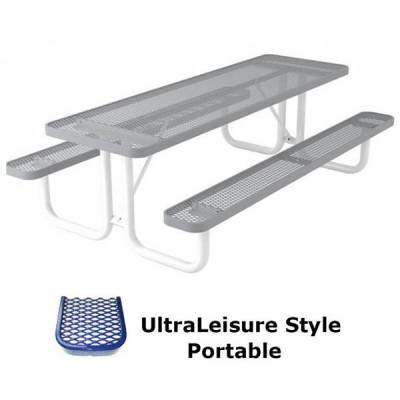 6' and 8' UltraLeisure Picnic Table - Portable - Image 2