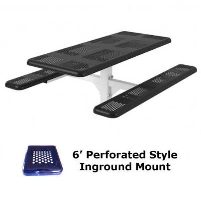 6' and 8' Perforated Picnic Table - Portable, Surface and Inground Mount - Image 2