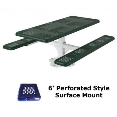 6' and 8' Perforated Picnic Table - Portable, Surface and Inground Mount - Image 3