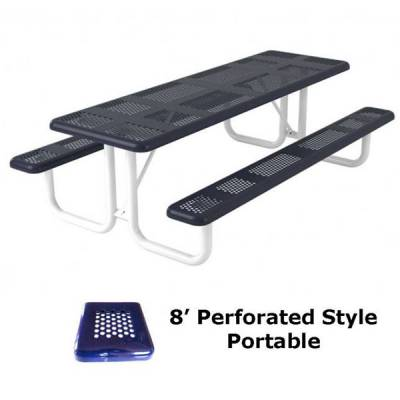 6' and 8' Perforated Picnic Table - Portable, Surface and Inground Mount - Image 4