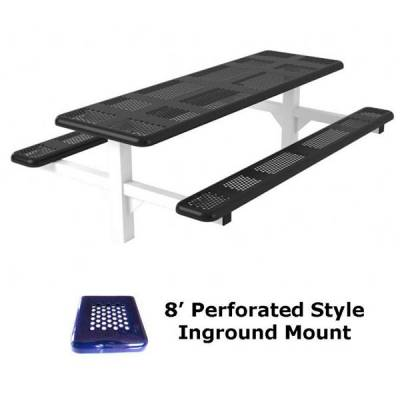 6' and 8' Perforated Picnic Table - Portable, Surface and Inground Mount - Image 5