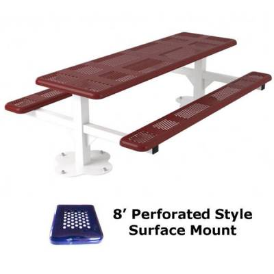 6' and 8' Perforated Picnic Table - Portable, Surface and Inground Mount - Image 6