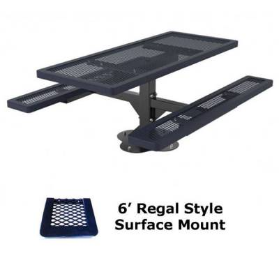 4', 6' and 8' Regal Picnic Table - Portable, Surface and Inground Mount - Image 3