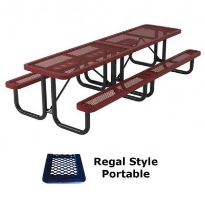 Picnic Tables - Thermoplastic Coated - 10' Regal Picnic Table - Portable