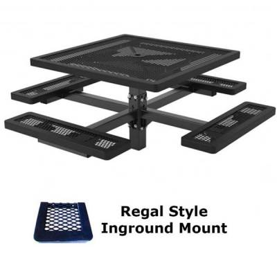 "46"" Square Regal Picnic Table - Portable, Surface and Inground Mount - Image 3"