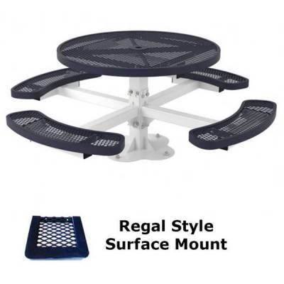 "46"" Round Regal Picnic Table - Portable, Surface and Inground Mount - Image 2"