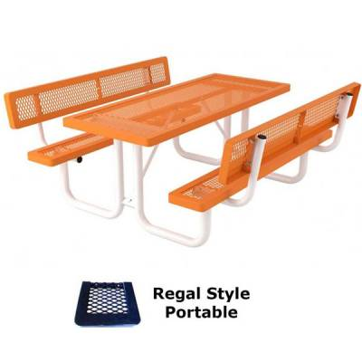 6' and 8' Specialty Picnic Table - Portable - Image 1