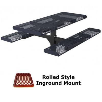 6' Rolled Picnic Table - Portable, Surface and Inground Mount - Image 2