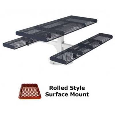 6' Rolled Picnic Table - Portable, Surface and Inground Mount - Image 3