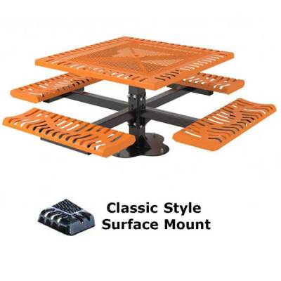 "46"" Square Classic Picnic Table - Portable, Surface and Inground Mount - Image 3"