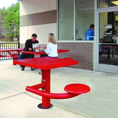 "Picnic Tables - 30"" Square Canteen Table - Surface and Inground Mount"