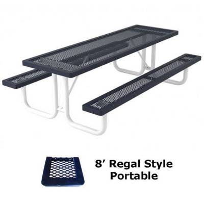 6' and 8' Regal Picnic Table - Portable, Surface and Inground Mount - Image 4