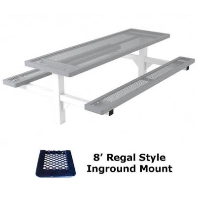 4', 6' and 8' Regal Picnic Table - Portable, Surface and Inground Mount - Image 5