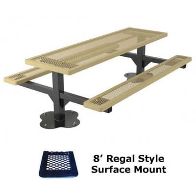 4', 6' and 8' Regal Picnic Table - Portable, Surface and Inground Mount - Image 6