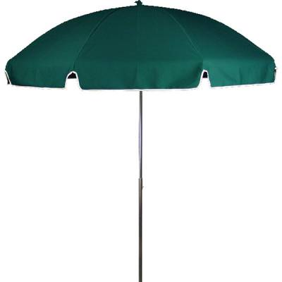 Umbrellas and Bases - Quick Ship Umbrellas - 7 1/2 Ft. Flat Top Umbrella, Steel Ribs - Push Up Style without Tilt