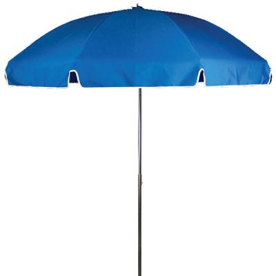 Umbrellas and Bases - Quick Ship Umbrellas - 7 1/2 Ft. Flat Top Umbrella, Steel Ribs - Push Up Style with Tilt
