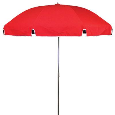 Umbrellas and Bases - Quick Ship Umbrellas - 7 1/2 Ft. Flat Top Umbrella, Steel Ribs - Crank Up Style with Tilt