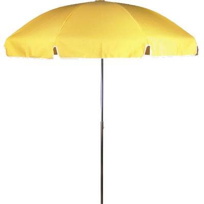 Umbrellas and Bases - Quick Ship Umbrellas - 7 1/2 Ft. Flat Top Umbrella, Fiberglass Ribs - Push Up Style without Tilt