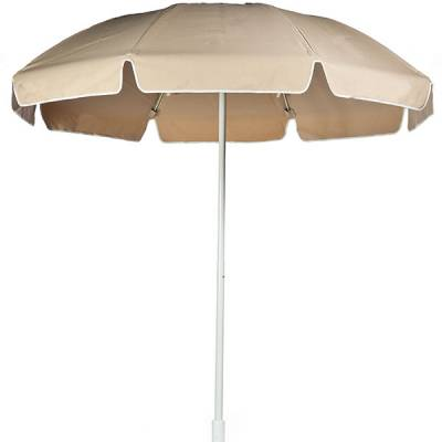 Umbrellas and Bases - Quick Ship Umbrellas - 7 1/2 Ft. Flat Top Umbrella, Fiberglass Ribs - Push Up Style with Tilt