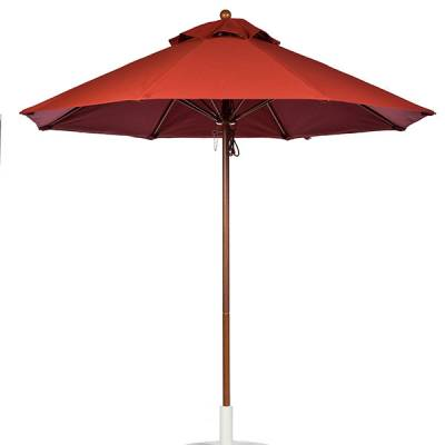 Umbrellas and Bases - Quick Ship Umbrellas - 7 1/2 Ft. Commercial Aluminum Market Umbrella, Fiberglass Ribs - Pulley Lift without Tilt