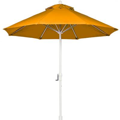 Umbrellas and Bases - Quick Ship Umbrellas - 7 1/2 Ft. Commercial Aluminum Market Umbrella, Fiberglass Ribs - Crank with Auto Tilt