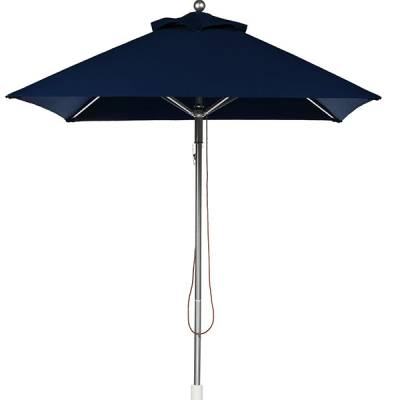 Umbrellas & Bases - Commercial Market Umbrellas - 6 1/2 Ft. Square Greenwich Heavy Duty Aluminum Market Umbrella - Pulley Lift