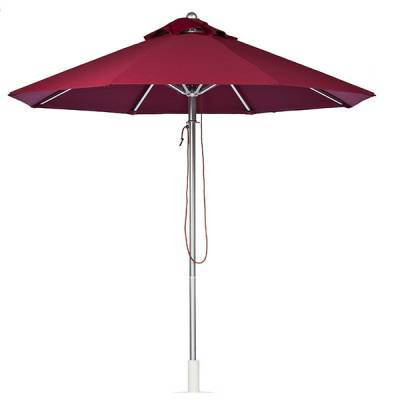 7 1/2 Ft. Greenwich Heavy Duty Aluminum Market Umbrella - Pulley Lift - Image 1