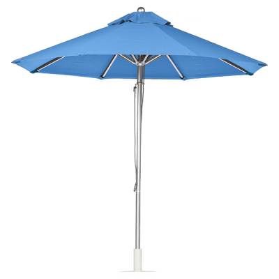 Umbrellas & Bases - Commercial Market Umbrellas - 9 Ft. Greenwich Heavy Duty Aluminum Market Umbrella - Pulley Lift