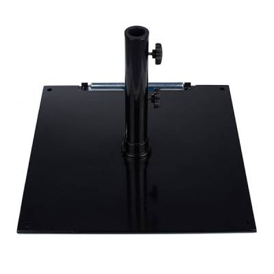 75 Lb. Square Steel Freestanding Base with Wheel - Image 1