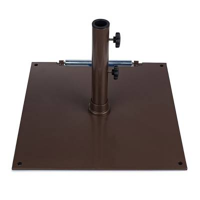 75 Lb. Square Steel Freestanding Base with Wheel - Image 2