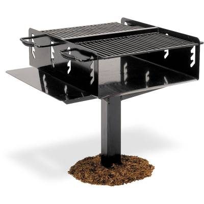 Grills & Fire Rings - Bi-Level Grill, 1008 Sq. Inch - Inground and Surface Mount