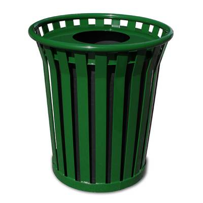 Trash Disposal - 24 Gallon Wydman Slatted Receptacle